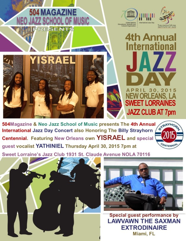 YISRAEL CELEBRATES INTERNATIONAL JAZZ DAY